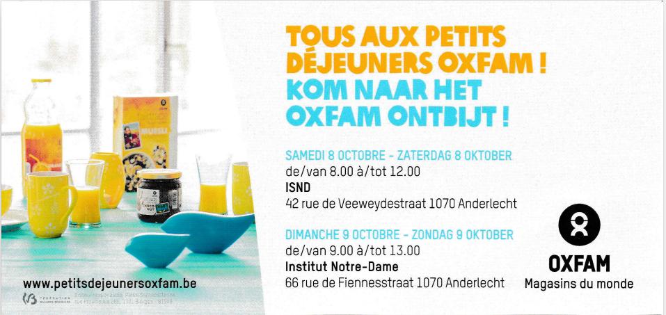 Petits déjeuners OXFAM